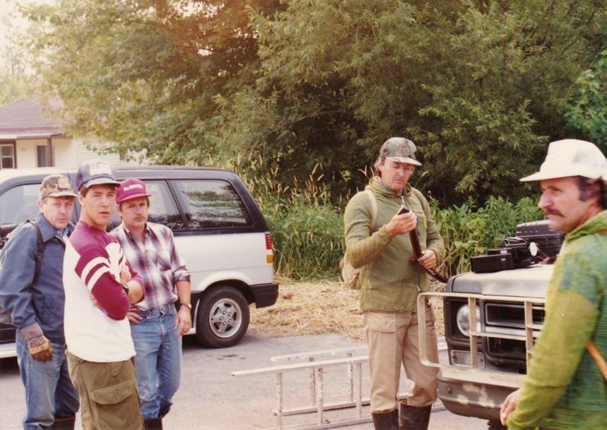 Denis Lamothe, Luc Lemoyne, André Côté, Rodrigue Shooner et Robert Angers le 24 juillet 1989.